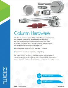 IDEX Fluidics Catalog Column Hardware Chapter