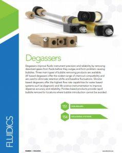 IDEX Fluidics Catalog Degassers Chapter