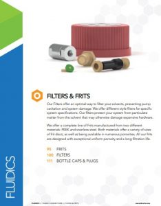 IDEX Fluidics Catalog Filters and Frits Chapter