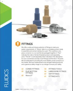IDEX Fluidics Catalog Fittings Chapter