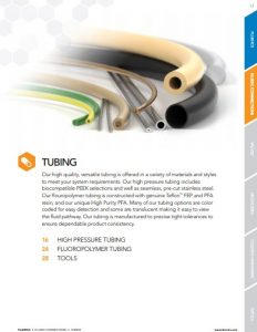 IDEX Fluidics Catalog Tubing Chapter