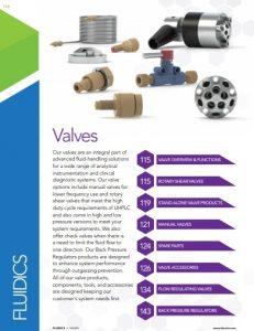 IDEX Fluidics Catalog Valves and Injectors Chapter