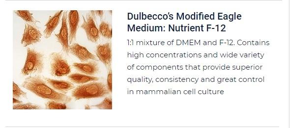 PurMa Tissue Culture Reagents Dulbecco's Modified Eagle Medium F-12