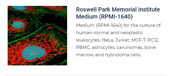 PurMa Tissue Culture Reagents Roswell Park Memorial Institute Medium