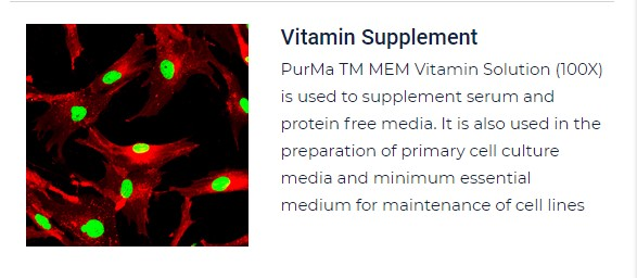 PurMa Tissue Culture Reagents Vitamin Supplement