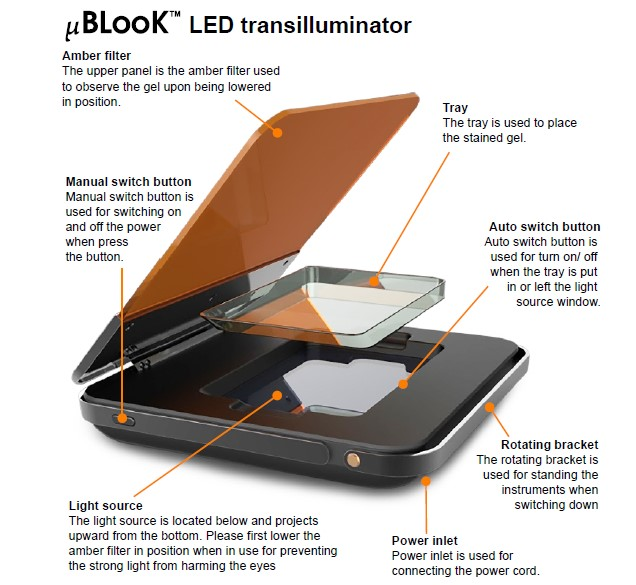 Simply Biologics uBLook Blue LIght LED Transilluminator