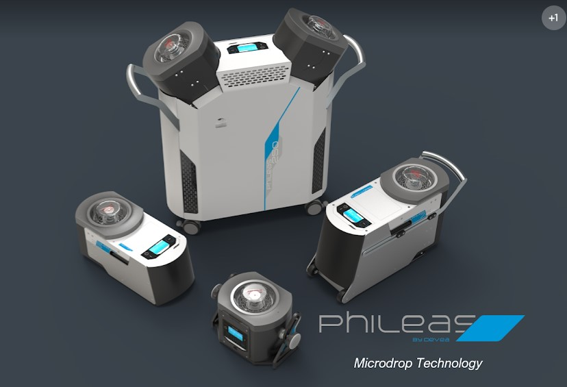 Phileas Range of Airborne Disinfection Units using Vaporized H2O2
