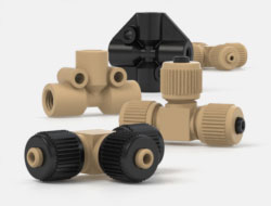 IDEX High Pressure Multiport Connectors PEEK Tees and Crosses