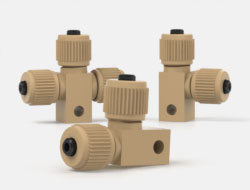 IDEX High Pressure Mulitport Connectors Elbows