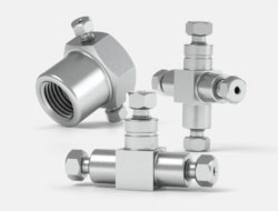 IDEX High Pressure Multiport Connectors Stainless Steel Tees and Crosses