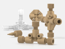 IDEX Low Pressure Multiport Connectors Tees and Crosses